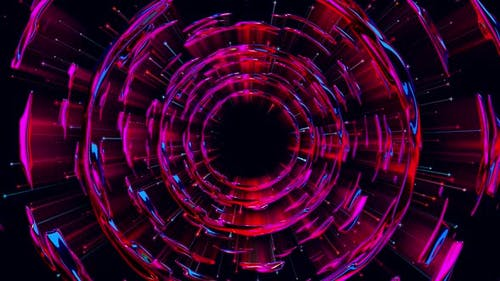 Iridescent Liquid Tunnel