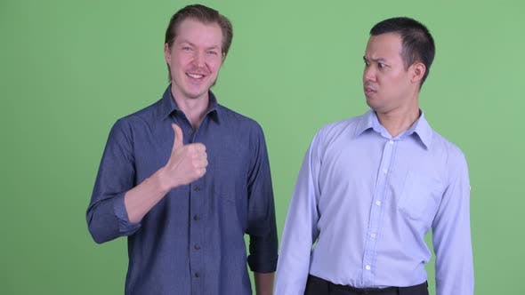 Thumbnail for Two Multi Ethnic Businessmen Having Different Opinions Together