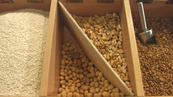 Purified Seeds of Sesame Seeds, Sunflowers and Peanuts.