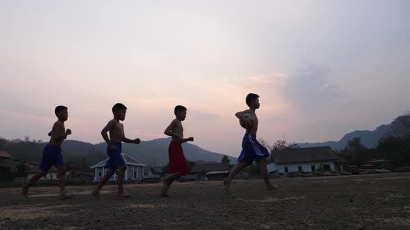Countryside Kids Soccer Team Training