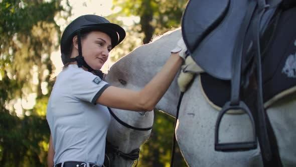 Moments agréables avec un cheval
