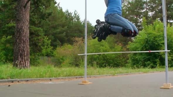 Thumbnail for Inline Skate Jump Trick