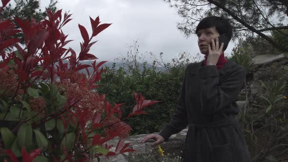 Thumbnail for Smartphone Woman Talking on Phone in the Park.