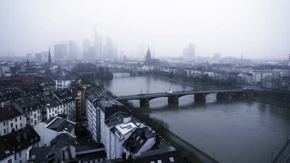 Thumbnail for Frankfurt Germany Maine River And Business Towers In Snowy Day 4
