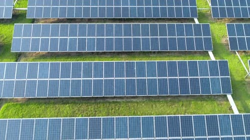 Aerial View of Solar Energy Panels Solar Panels Solar Power Plants