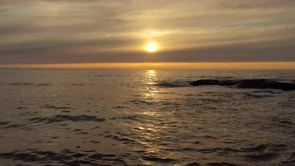 Thumbnail for Beautiful Sunset Over the Sea. Beach Lofoten Archipelago, Norway