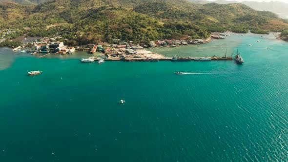 Thumbnail for Sea Port on the Island of Busuanga, Philippines, Coron