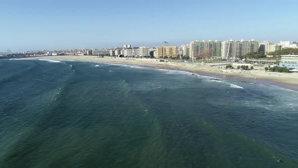 Thumbnail for Aerial view of beach and city