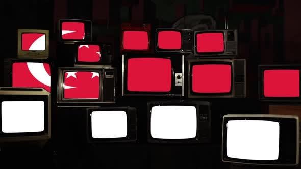 Thumbnail for Flag of Singapore and Retro TVs.