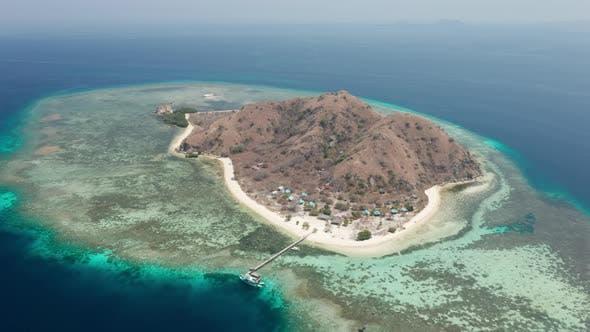 Drone Towards Kanawa Island
