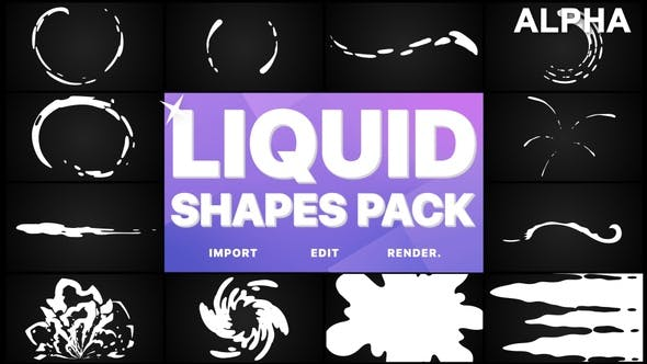 Thumbnail for Liquid Shapes Pack | Motion Graphics Pack