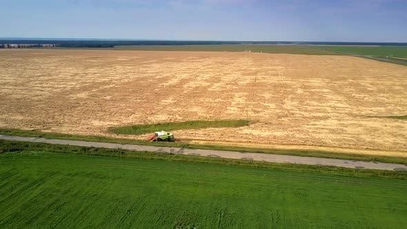 Thumbnail for Maschinen kombiniert Erntevorgänge auf Weizenfeld