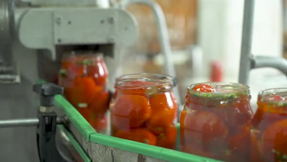 Thumbnail for The Working Process of Production of Preserved Tomatoes