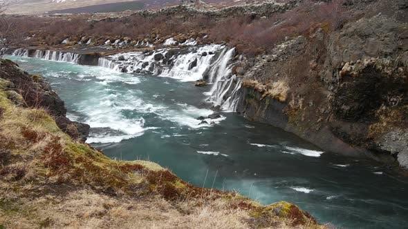Thumbnail for Hraunfossar waterfalls