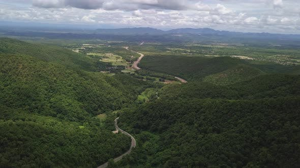 Thumbnail for Aerial View Of Countryside Road Passing Through The Mountain Landscape 10