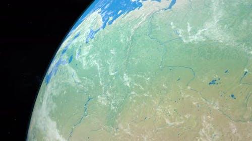 Fluss Ural auf dem Planet Erde