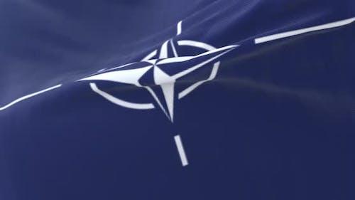 NATO Flag Waving