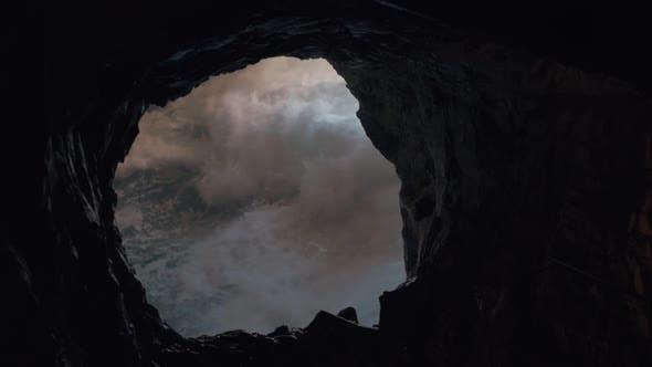 Thumbnail for Blick auf das Wasser aus der Meereshöhle von Rosh Hanikra