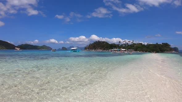Thumbnail for Panorama View Snake Island in El Nido, Palawan, Philippines, Tropical Beach with Azure Water and