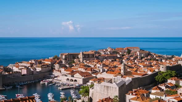 Timelapse of Old Town Dubrovnik, Croatia