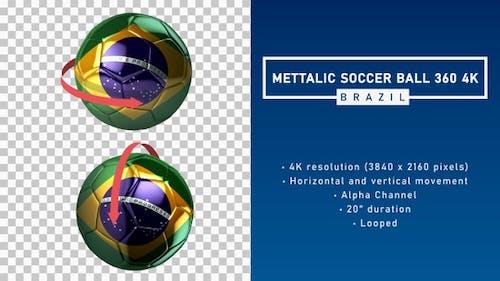 Mettalic Soccer Ball 360º 4K - Brazil