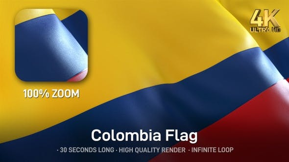 Thumbnail for Colombia Flag - 4K