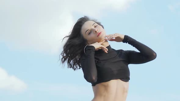 Thumbnail for Gorgeous Sensual Woman Dancing Outdoors Seductively
