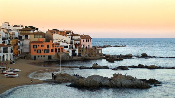 Thumbnail for Mediterranean Fishing Village at Dusk