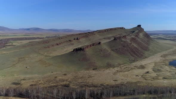 Thumbnail for Panoramic View Of Mountain Landscape And Steppe