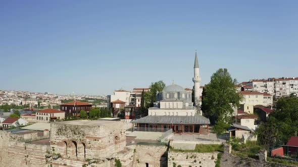 Thumbnail for Aerial View of Mosque and Golden Horn. Footage in Turkey