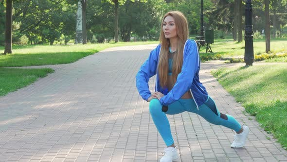 Thumbnail for Lovely Fit Woman Exercising at the Park