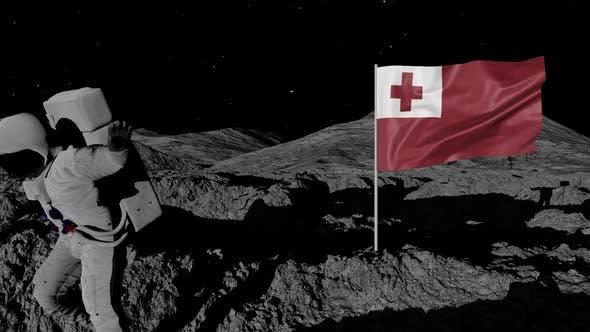 Thumbnail for Astronaut Planting Tonga Flag on the Moon
