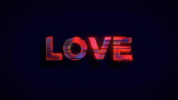 Valentinstag Love Message Schild