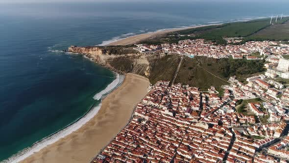Thumbnail for Aerial View of Beautiful City with Beach and Canyon