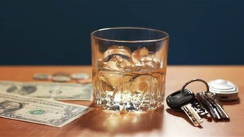 Whiskey With Ice And Tips