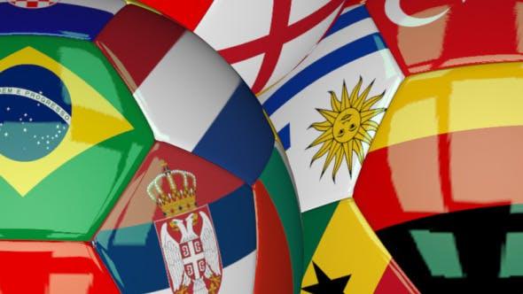3D Soccer Ball - World Flags