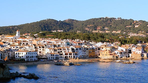 Mediterranean Fishing Village Panoramic