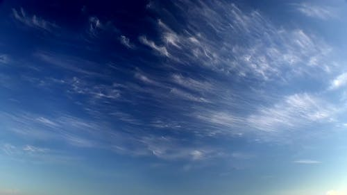 Only Cirrus Clouds In The Blue Sky