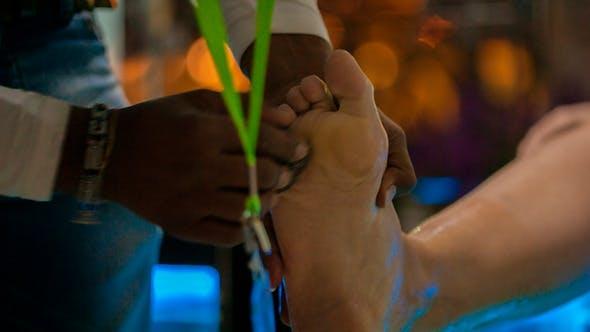 Thumbnail for Garra Rufa Fish Pedicure Man Peeling Female Feet