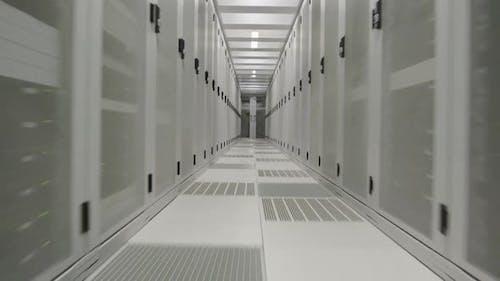 Aisle in data center