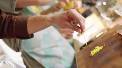 Male Hand Taking Lemon Zest