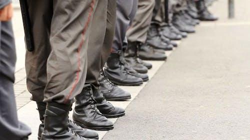 Polizei Cordon Legs, Russland