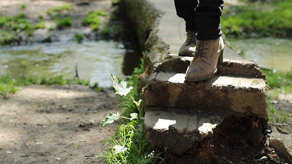 Thumbnail for Steps Over Footbridge
