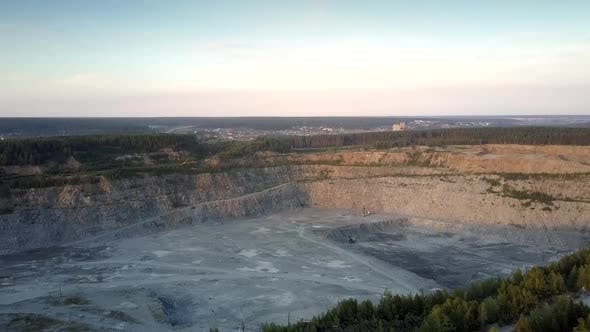 Thumbnail for Grey Large Quarry with Special Mining Technic Against Town