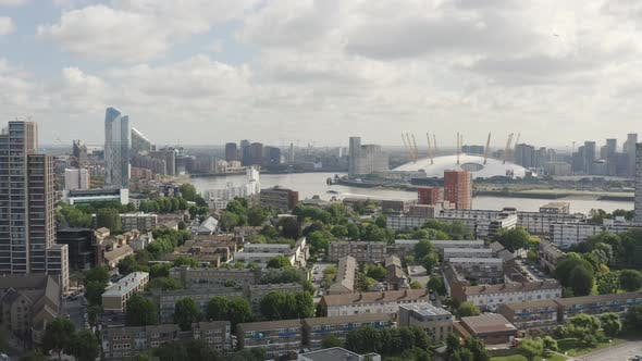 Thumbnail for London Suburbs. O2 Arena is Seen from Above