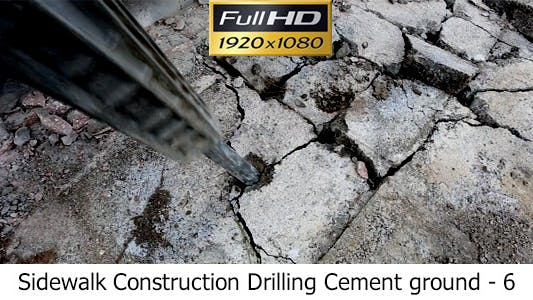 Thumbnail for Sidewalk Construction Drilling Cement Ground