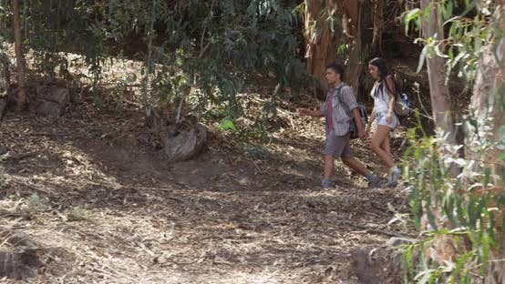 Thumbnail for Mexican couple hiking outdoors
