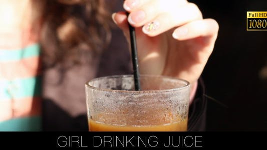Cover Image for Girl Drinking Juice