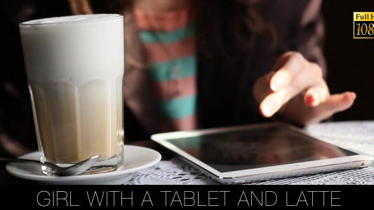 Thumbnail for Girl With A Tablet And Latte 2