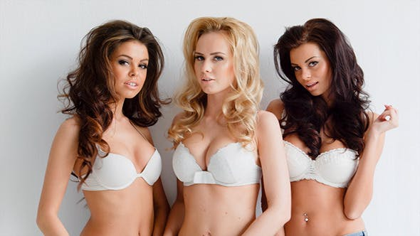 Thumbnail for Three Beautiful Sexy Curvaceous Young Women